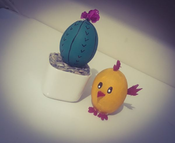 Cactus y pollito realizado con materiales de provecho. 🌵🐣 || cactus and chick made from scrap materials. 🌵🐣