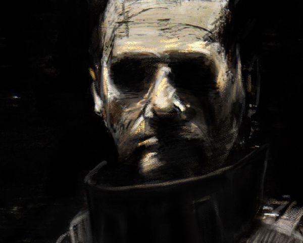 The Punisher - analog/digital painting