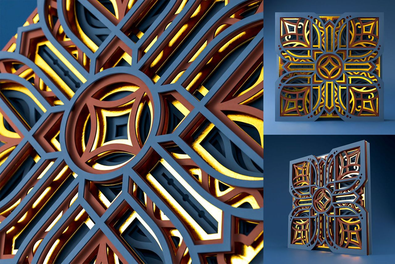 4 Mandala MD03 3D Layered SVG Cut File Preview 2.jpg