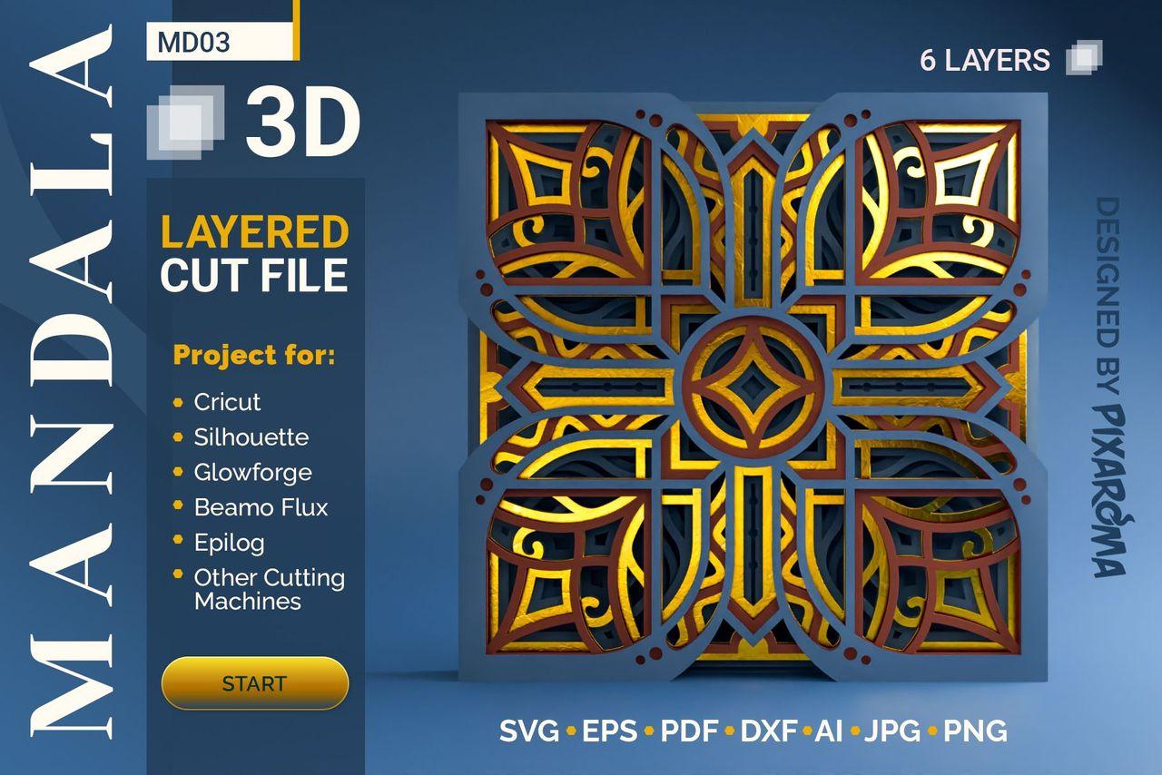 1 Mandala MD03 3D Layered SVG Cut File Preview 1.jpg