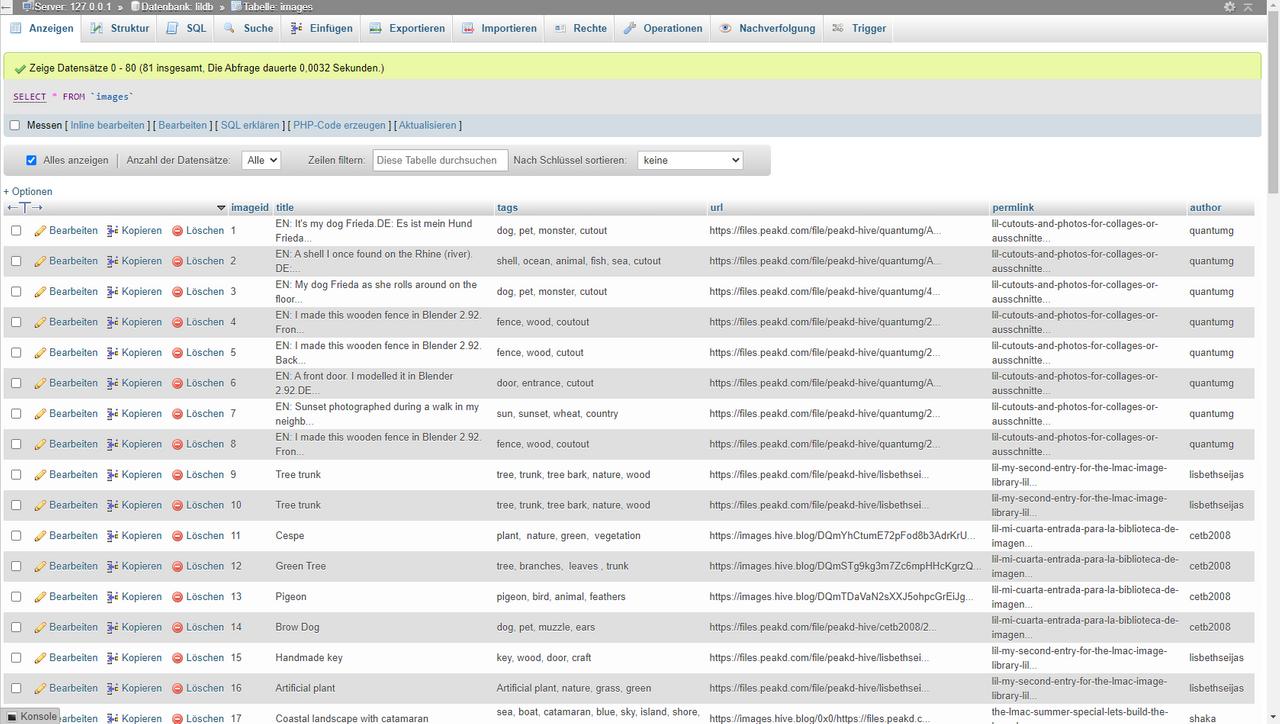 Database - Datenbank