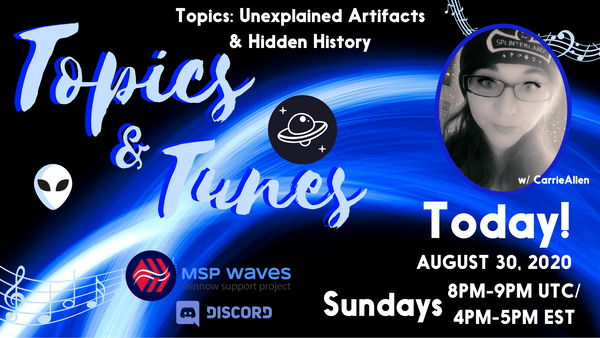 🎵 🎙️Topics & Tunes 🎙️🎵 Today on MSPwaves! 🕛 1PM PST 🕒 4PM EST 🕖 8PM UTC