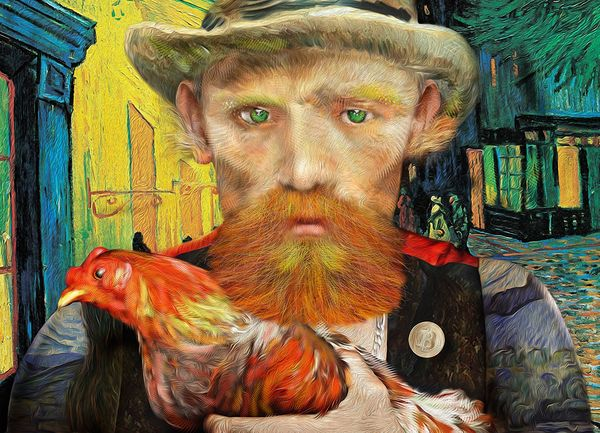 "The #VanGoghGo, ""GO"" collectibles, as a tribute to Vincent Van Gogh. Cryptographic art digital paintings (NFTs)"