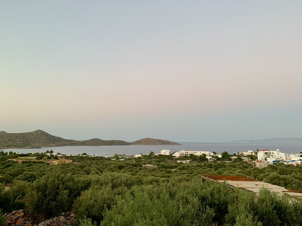 A view from the hills to the area of Elounda