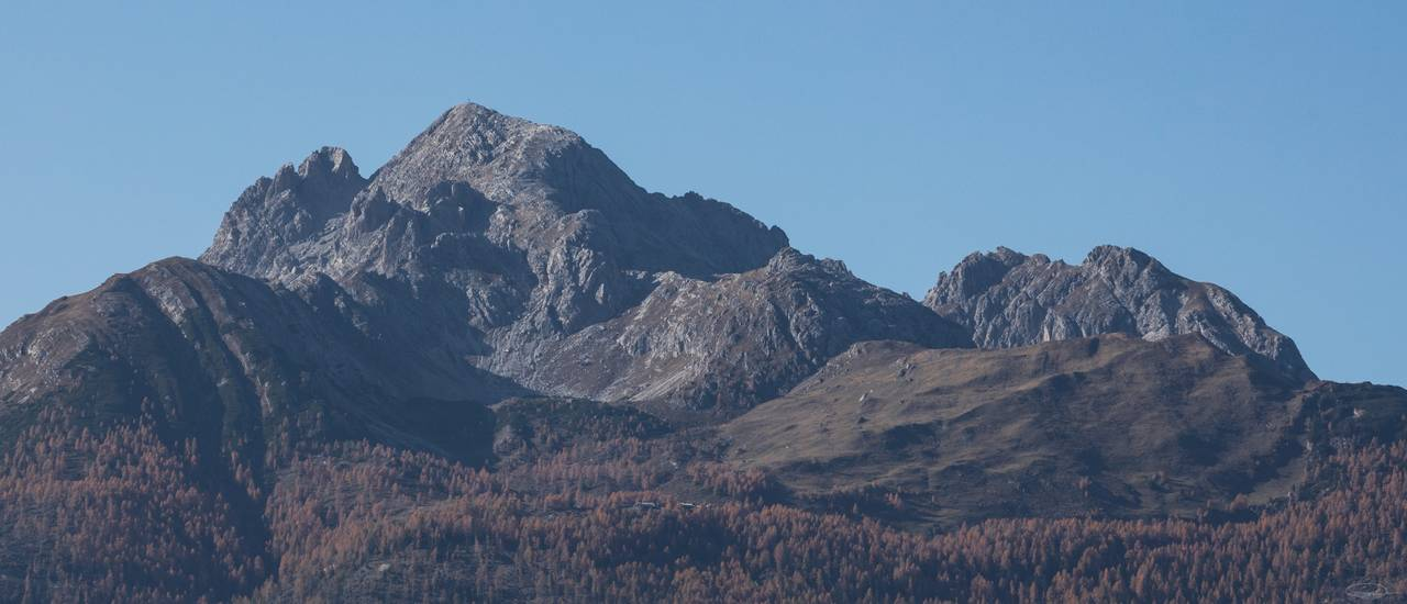 Panorama of the Mountain Hochstadel (October 2019)