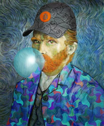 # The VanGoghGo 3. Series of Five Crypto Art Paintings (NFT)