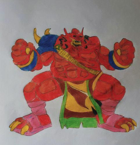 "I made a drawing of a monster of splinterlands named ""MOLTEN OGRE """