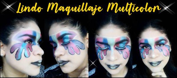 [ESP - ENG] Lindo Maquillaje Multicolor | Cute Multicolor Makeup