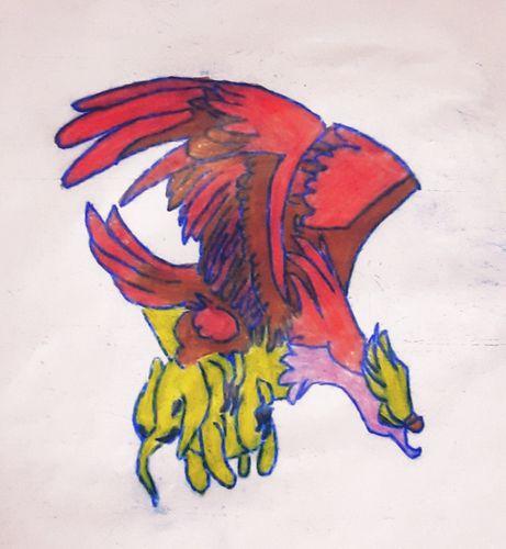 "My drawing colour pencil splinterlands  character ""GIANT ROC"""