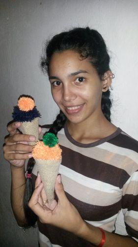 [Esp-Eng] Hermosos y Creativos Helados Hechos con Estambre ||   Beautiful and Creative Ice Creams Made with Yarn