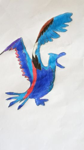 """Sketch my drawing pencil. This is the character """"ALBATROSS"""" splinterlands."""