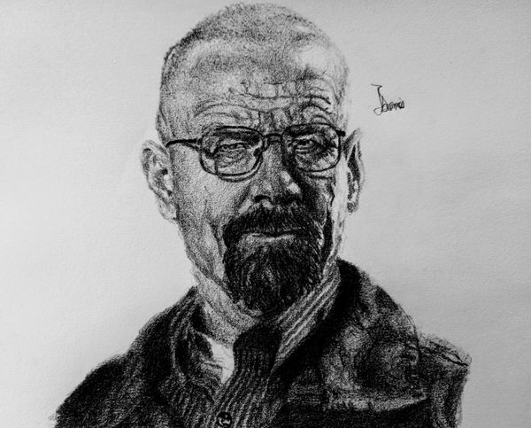 """A Pencil Impression of """"Walter White"""" from 'Breaking Bad' - the series."""