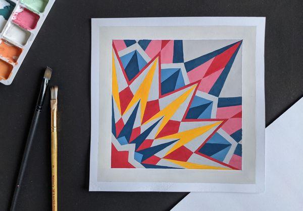 Geometric Art (Gouache Painting)