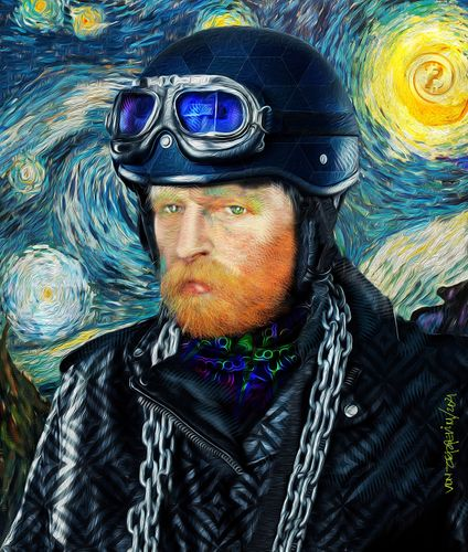 # The VanGoghGo 4. Series of Five Crypto Art Paintings (NFT)