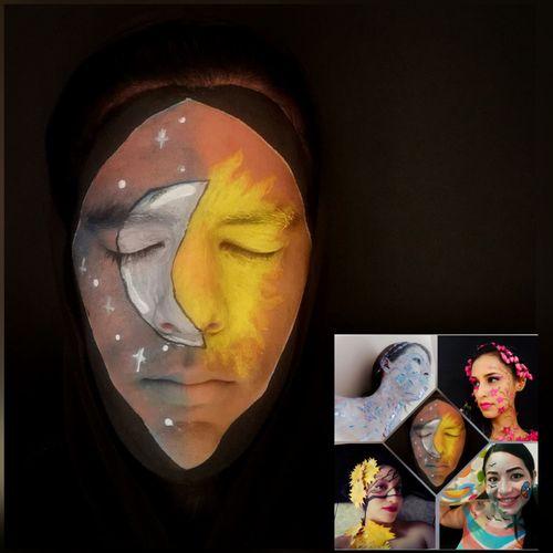 (Esp-Eng) Iniciativa: Maquillaje grupal inspirado en las estaciones del año. Mi representación: Día y Noche/Initiative: Group make-up inspired by the seasons of the year. My performance: Day and Night