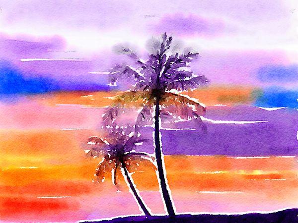 Sunset Gradience   Art  Diaries 🌸