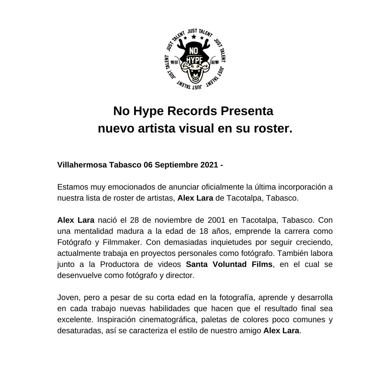 No Hype Records Presenta nuevo artista visual en su roster. (1) (1).png