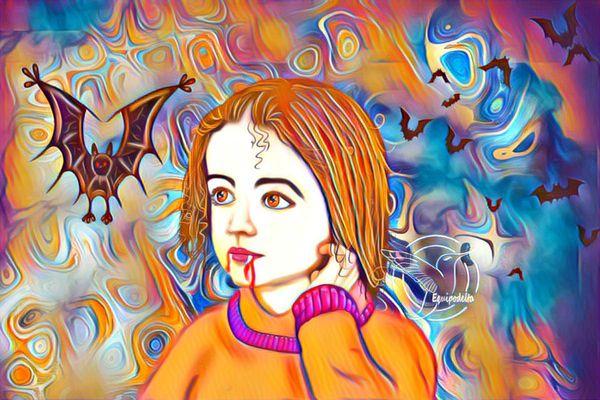 Innocent vampire (digital photomanipulation)  (ESP/ENG)