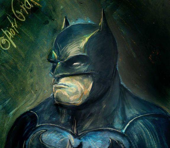 Bat person - painting