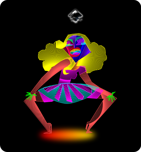 Design of an Abstract Sexy Girl in Inkscape /Diseño de una Chica Sexy Abstracta en Inkscape