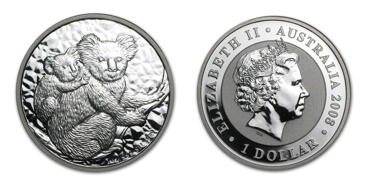 1oz Silver 2008 Australian Koala