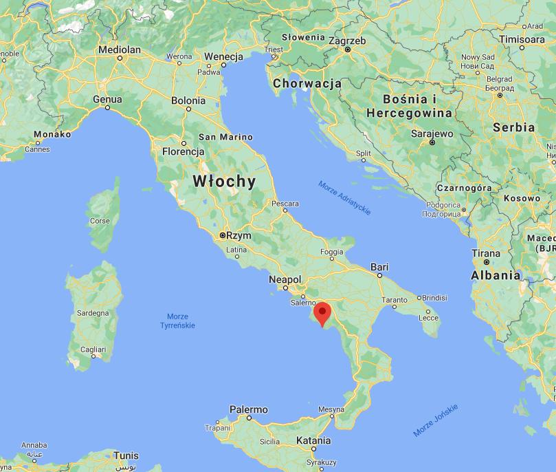 Palinuro na mapie Włoch | Palinuro on the map