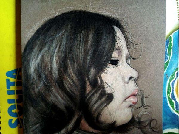 [ENG-ESP] DRAWING MY DAUGHTER CAMILA - DIBUJANDO A MI HIJA CAMILA