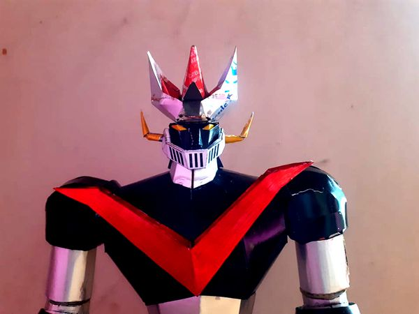 [ENG-ESP] DIY: HOW TO MAKE MAZINGER Z WITH SODA CAN (TWO WEEKS OF WORK)