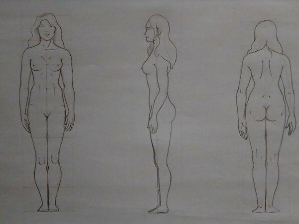 [ENG/ESP]  Anatomy practice - Body sketches. // Práctica de anatomía - Bocetos del cuerpo.