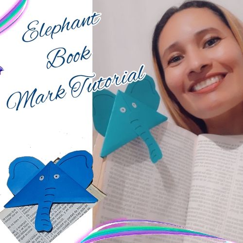 [ESP-ING] Tutorial Marca libro de Elefante | Elephant Book Mark Tutorial