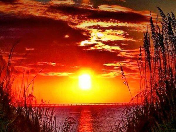 Fiery sunsets..!