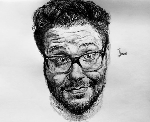 A Seth Rogen Pencil Impression
