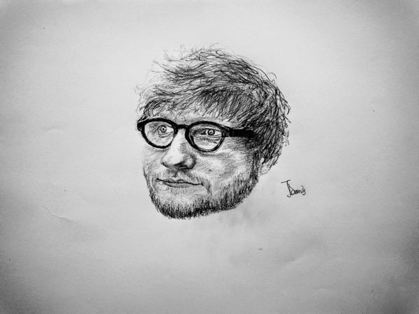 A Pencil Portrait of Ed Sheeran