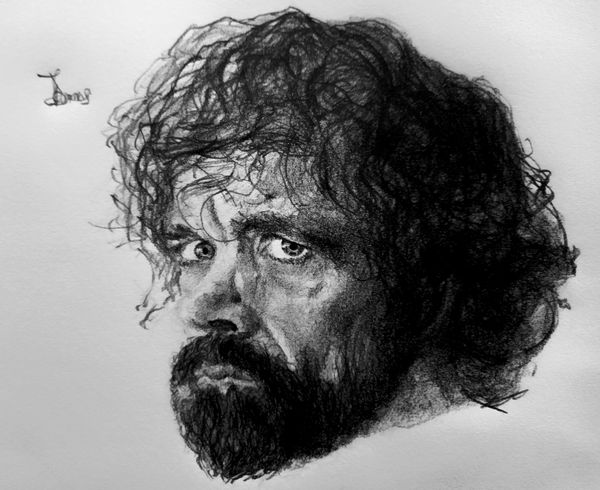 """A Pencil Portrait of """"Tyrion Lannister"""" from Game of Thrones"""