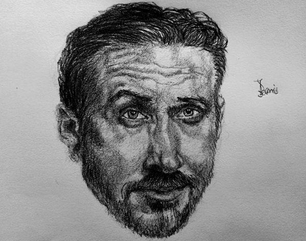 A Pencil Portrait of Ryan Gosling