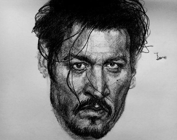 A Pencil Impression of Johnny Depp