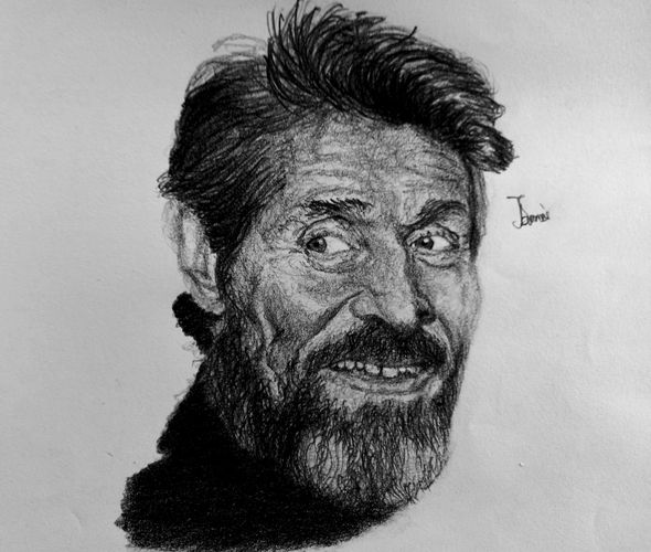 """A Pencil Portrait of the Hollywood Actor """"Willem Dafoe"""""""