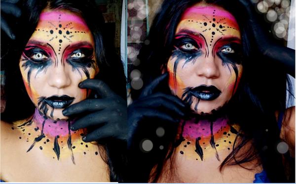 (ESP / ENG)Hermoso maquillaje creativo, colorido y terrorífico//Beautiful, creative, colorful and terrifying make-upby @keilis