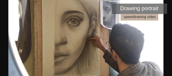 Charcoal portrait under 2 hours (video process) / Retrato a carboncillo en menos de 2 horas (video del proceso)   [ENG- ESP]