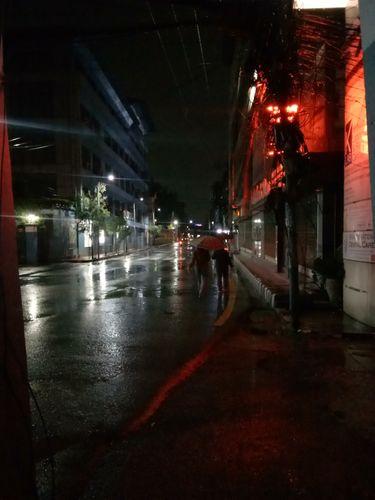 EARLY MORNING RAINY KATHMANDU STREET