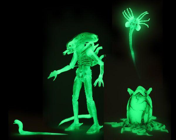 NECA NAILS IT AGAIN!  A new Alien Glow in the Dark 7 Action Figure! (*•̀ᴗ•́*)و ̑̑