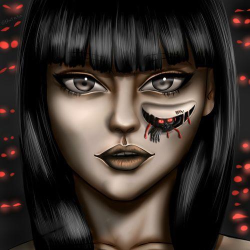 Digital Drawing - Internal Demons