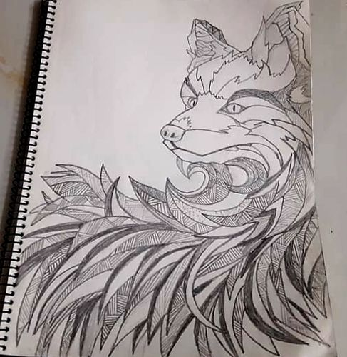 Sketch of a Splinterlands Monster