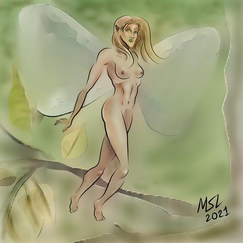 Pixie in Natural Habitat, QuickPaint