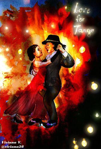 Love for tango - Digital Art