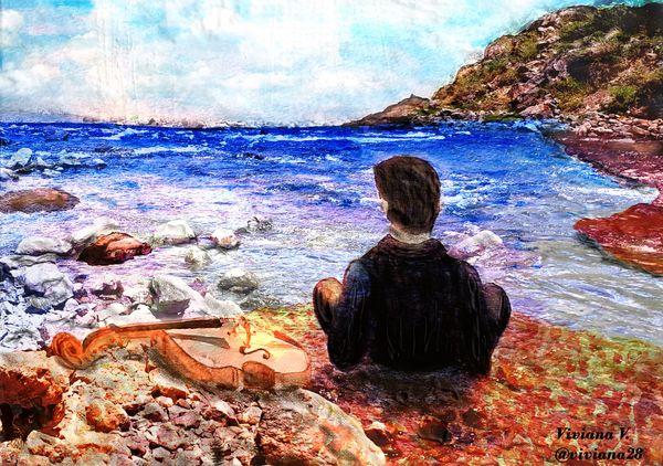 Digital Art: Looking for calm | Buscando calma