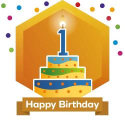 HAPPY 1 YEAR HIVE BIRTHDAY TO ME ! Thanks HiveBuzz for My New Personal Achievement Badge