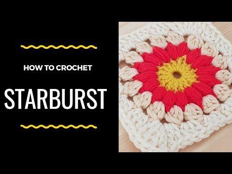 How to crochet Starburst Granny square