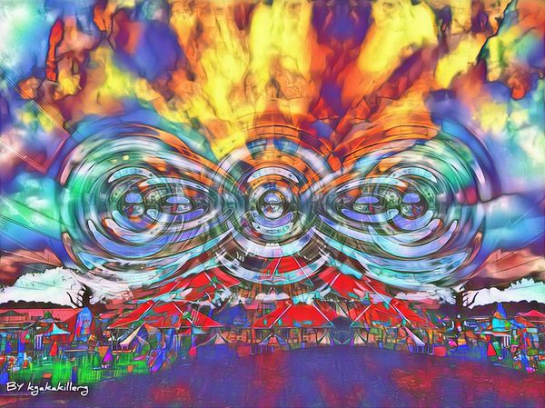 Beautiful Colourful fire sky digital art creations enjoy 🔥🔥🔥