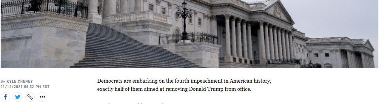 Politico wrongly asserts Democrats are embarking on the fourth American impeachment